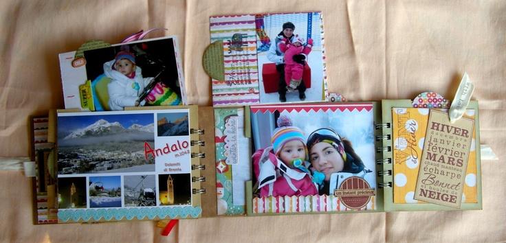 ...L'Arte vista da me...: ...Mini album Andalo... e card n°8...