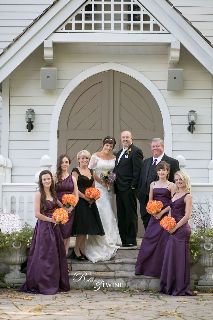Photo @ The Doctor's House Chapel of Reta & Gord with #Bestman Jim, #Maidofhonour Cindy, #Bridesmaids Taylor, Emily, Sarah, & Ashley.(26Reid-Kleinburg-Wedding-Photographer)