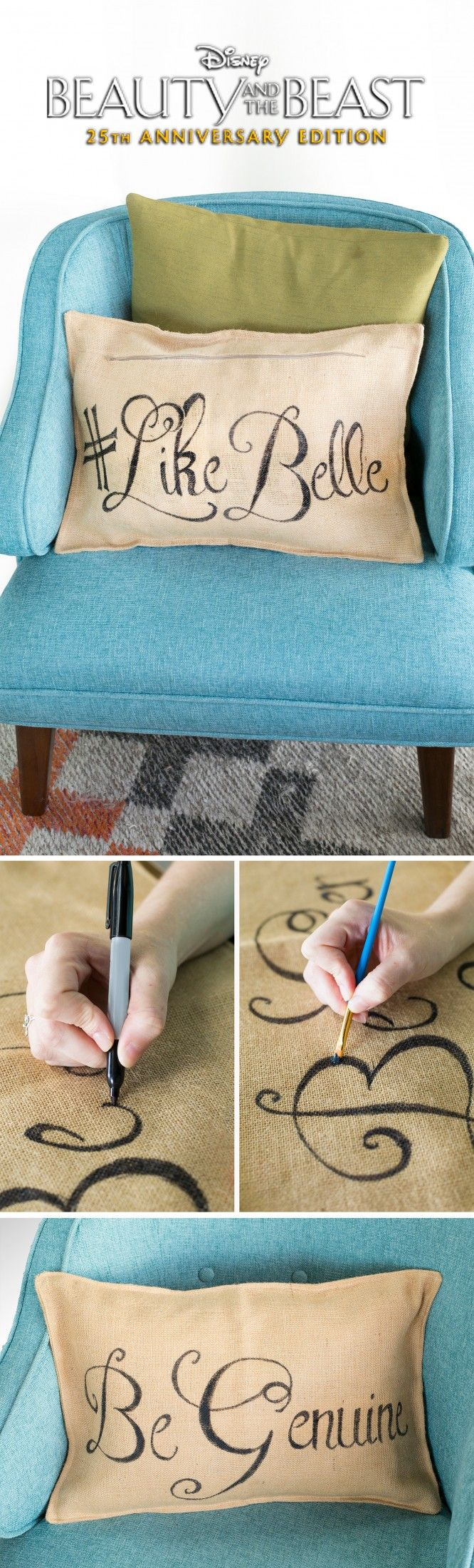 Make your humble abode a welcoming space with DIY #LikeBelle pillows.