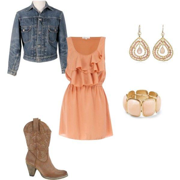 <<Dress is from dorothyperkins.com>> Cowboy boots