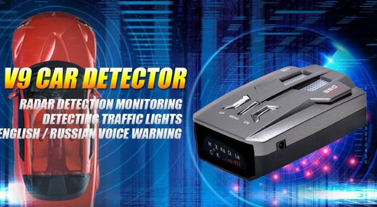 Universal V9 Car Detector Russia /English Voice Alert Warning Car Speed Detector Full 16 Bands Vehicle Anti Radar Detector