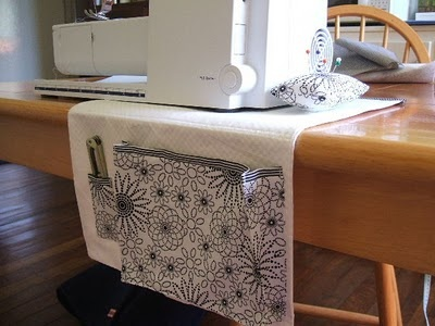 Sewing Machine Mat/Thread Catcher and pin cushion on top on side