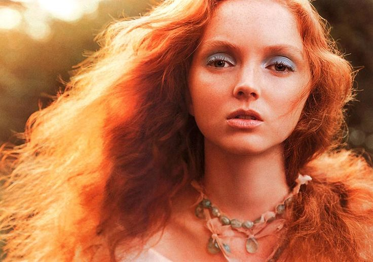 redhead model Lily Cole - brave meridia inspiration