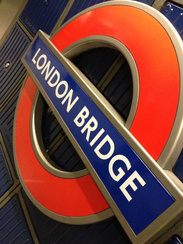London Tube at London Bridge