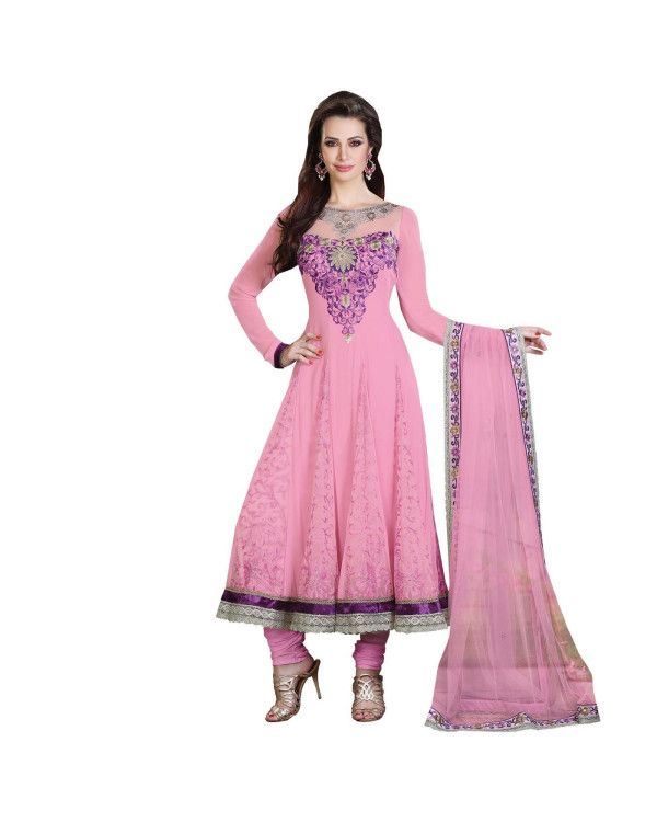 Pink Embroidered Salwar Suit   To know more or buy, please click Below:- http://www.ethnicstation.com/pink-embroidered-salwar-suit-ro1052  #EmbroideredSalwar Suit #DiscountCoupon