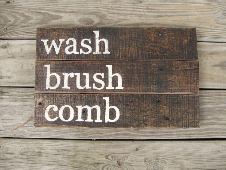 rustic wall decor distressed wood sign rustic by on bathroom wall decor id=38648