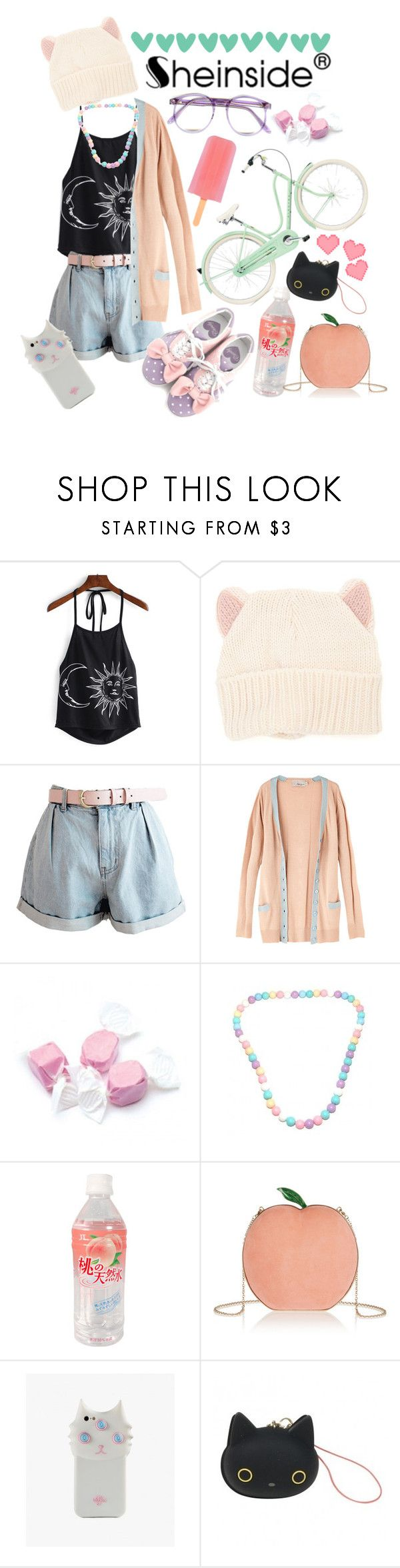 """""""Ho but darling, we may be cute but we all have a darker side"""" by neon-life ❤ liked on Polyvore featuring With Love From CA, Warehouse, Maria Garcia, Salt Water Sandals, Market, Charlotte Olympia, Valfré, cute, adorable and contestentry"""