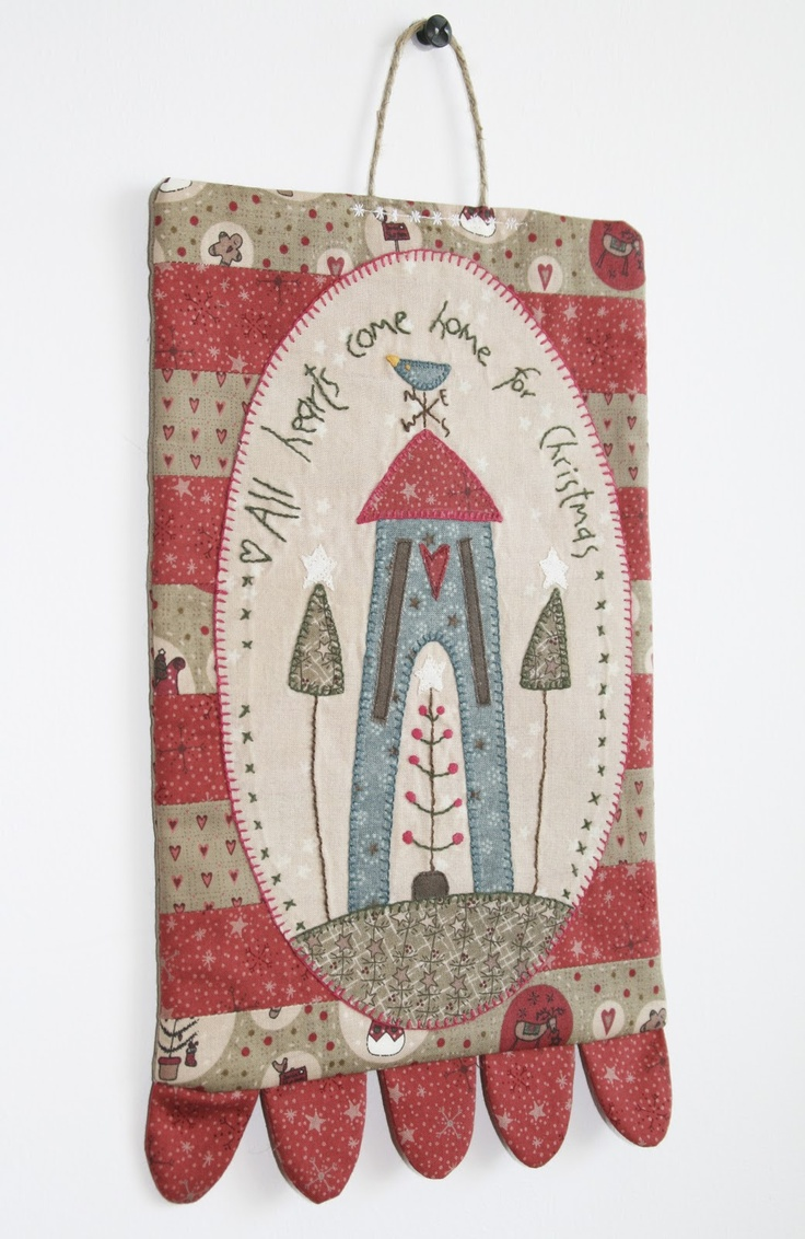 Christmas Banner From A Hatched And Patched Free Pattern | Pretty Handmade BCN