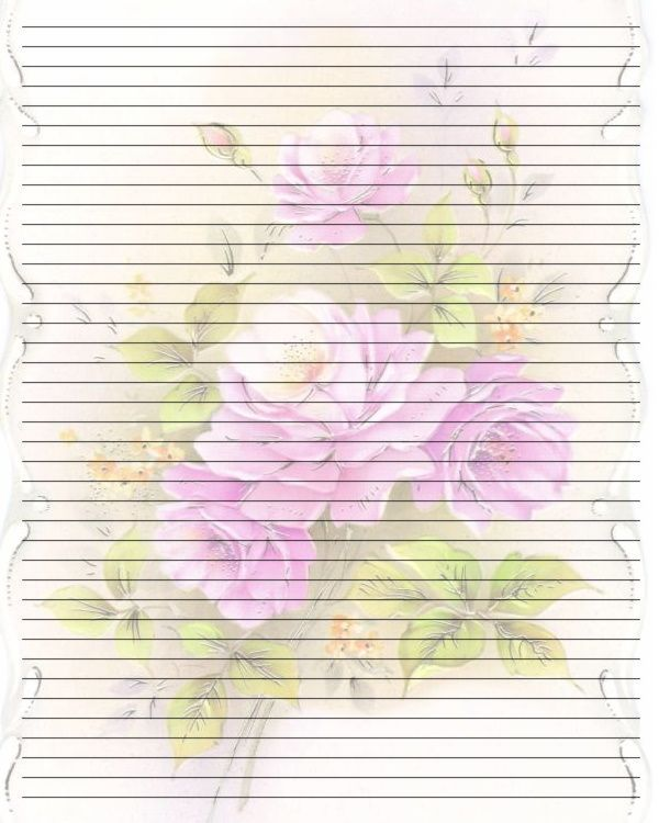Printable Writing Paper (185) by =Lady-Valentine-Art on deviantART stationary roses