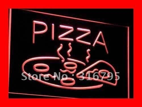 i004 Pizza Cafe NR Enseigne Lumineuse LED Neon Light Sign On/Off Switch 20+ Colors 5 Sizes