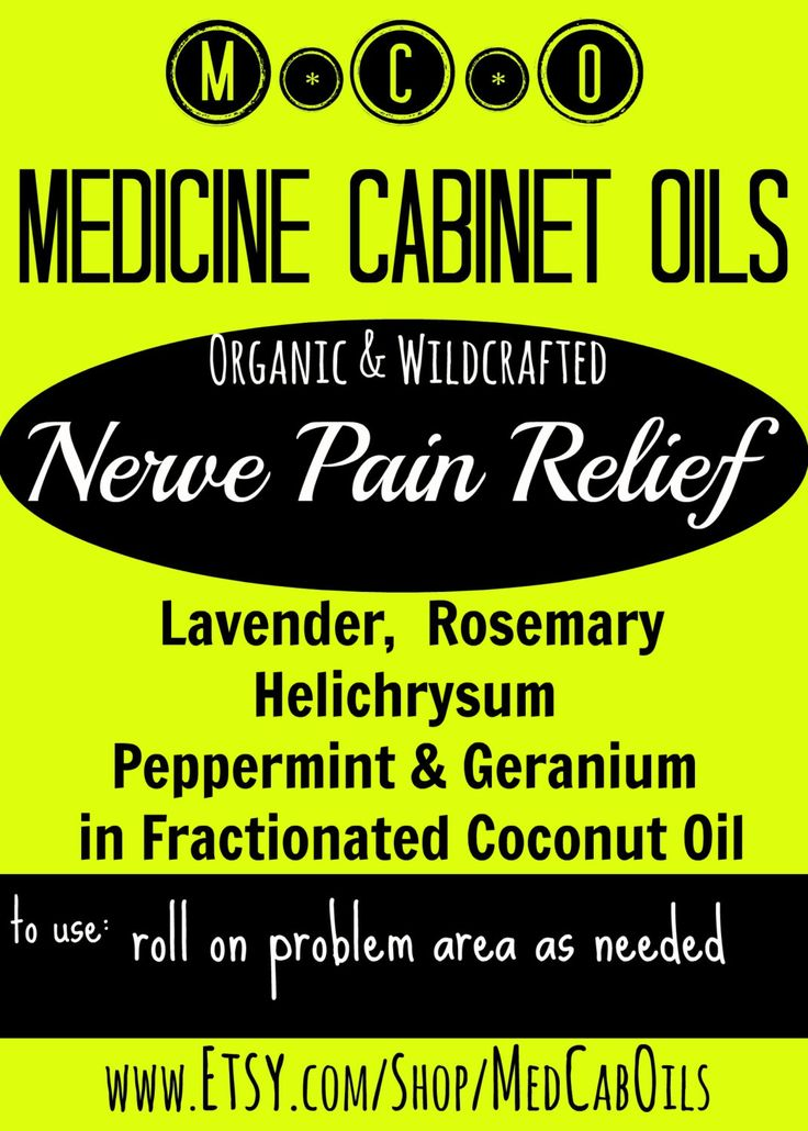 Nerve Pain Relief; Organic Essential Oil blend for Peripheral Nerve Pain; Neuralgia; 10ml Roller bottle from Medicine Cabinet Oils by MedCabOils on Etsy