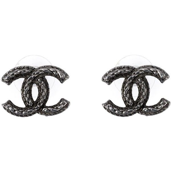Chanel Vintage Logo Earrings found on Polyvore