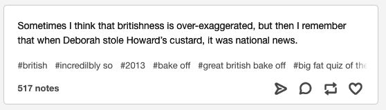 This British TV scandal. | 18 Tumblr Posts About British TV That Are Quite Funny