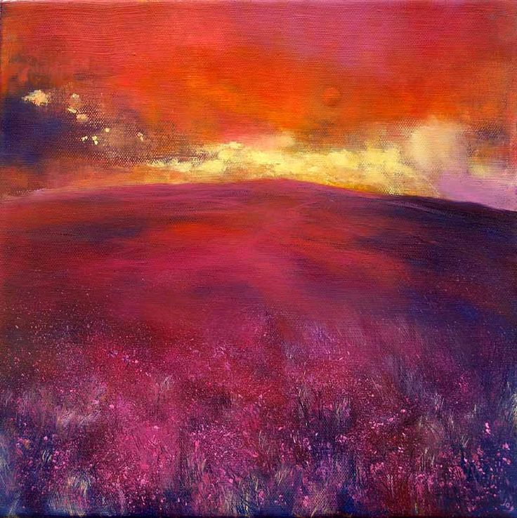 Till the Last Ray Gleams, John O'Grady - www.johnogradypaintings.com - a warm sunset to counteract a cold grey day #art #irishart #sunset