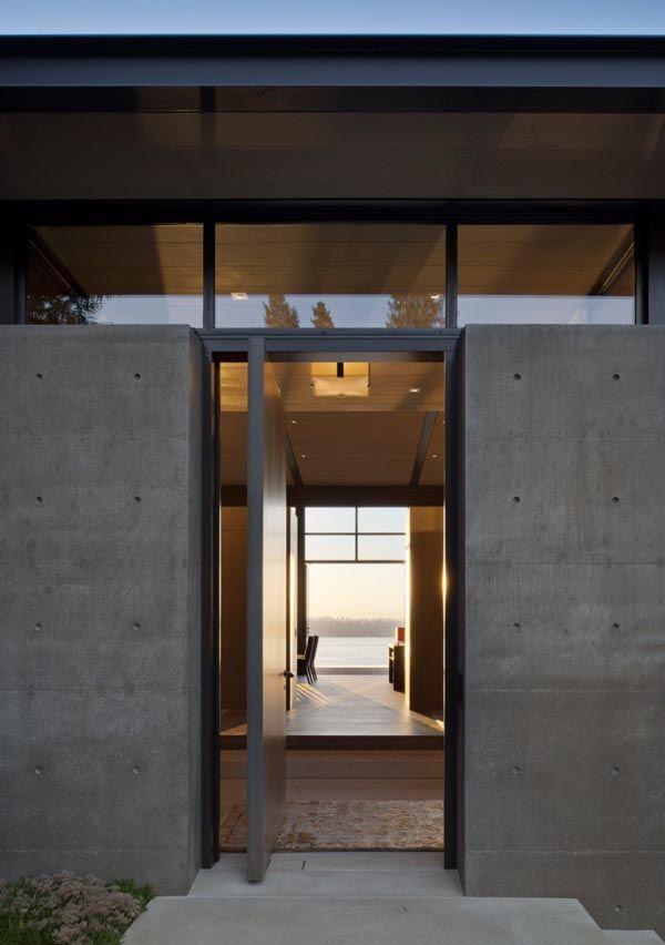 Concrete, Steel, Wood and Stone Shape the Fabulous Washington Park Residence