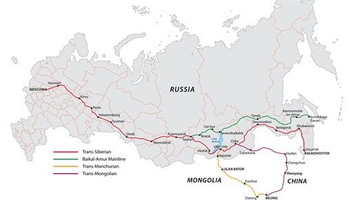 The Trans-Siberian railway - route map - How to book your ...