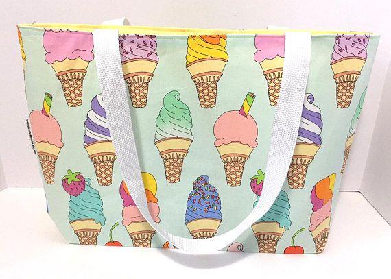 Tote Bag Ice Cream Tote Bag Foodie Gift Ice Cream Teacher