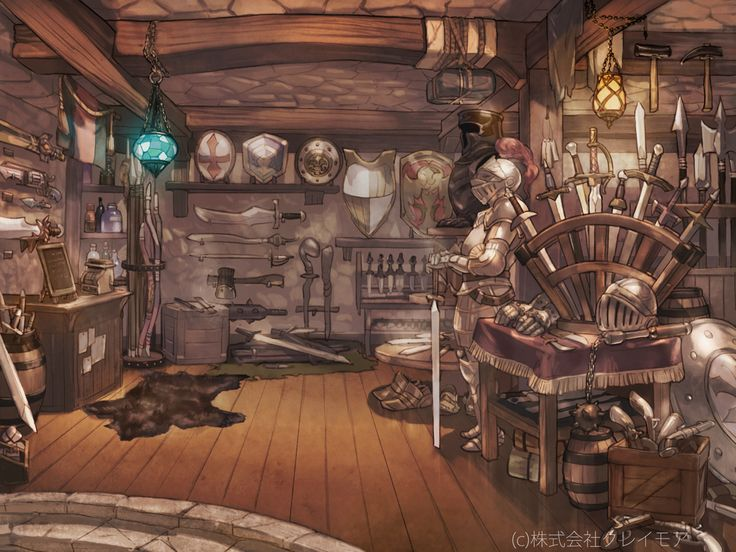 The Armor Shop by sweetmoon.deviantart.com on @deviantART