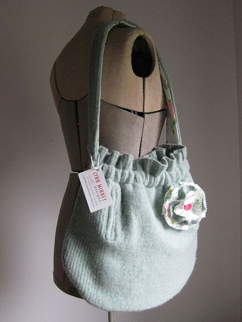 recycled wool sweater purse   Flickr - Photo Sharing!