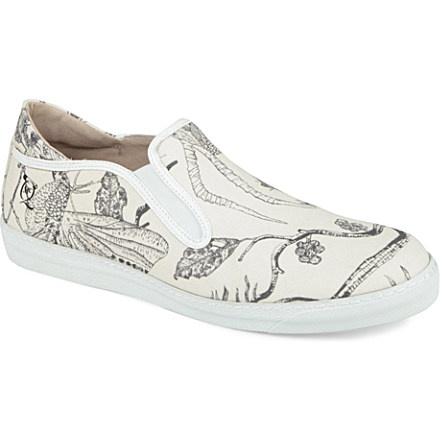 MCQ ALEXANDER MCQUEEN Printed canvas slip-on trainers