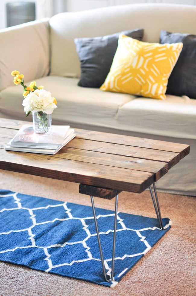 diy dining room table hairpin legs woodworking projects. Black Bedroom Furniture Sets. Home Design Ideas