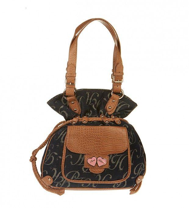 PARIS HILTON Blue Fabric Handbag