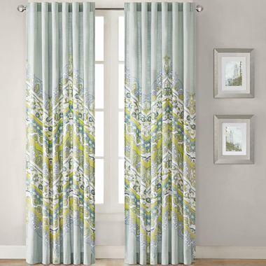 (new Bedroom Curtains! Aqua, Turquoise, Medium Blue, White, And Kiwi Green)  Ideology Asha Rod Pocket Curtain Panel   Jcpenney