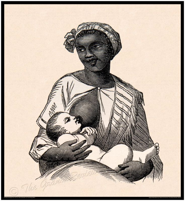 Civil War print - Slavery, Emancipation - Black wet nurse