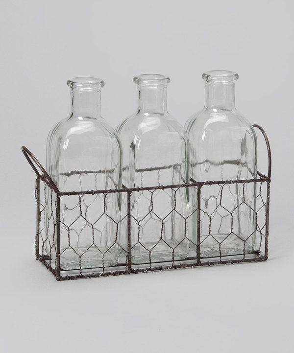 Take a look at this 8'' Bottle & Wire Basket Set on zulily today!