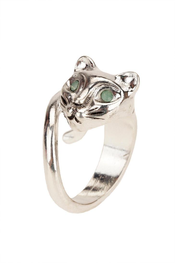 Schmuck ring katze