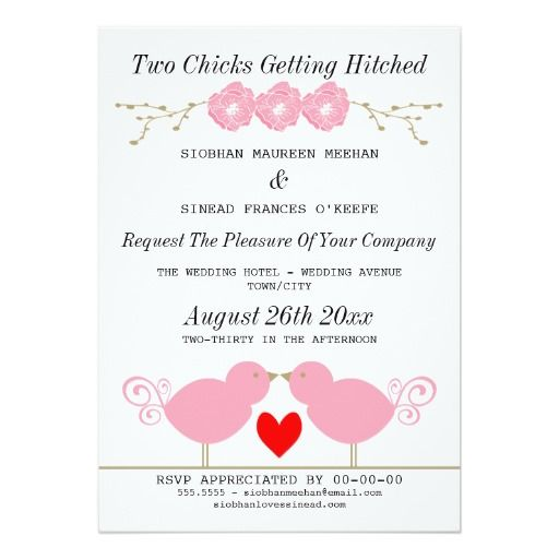 22 best Gay Lesbian Wedding Invitations images on Pinterest