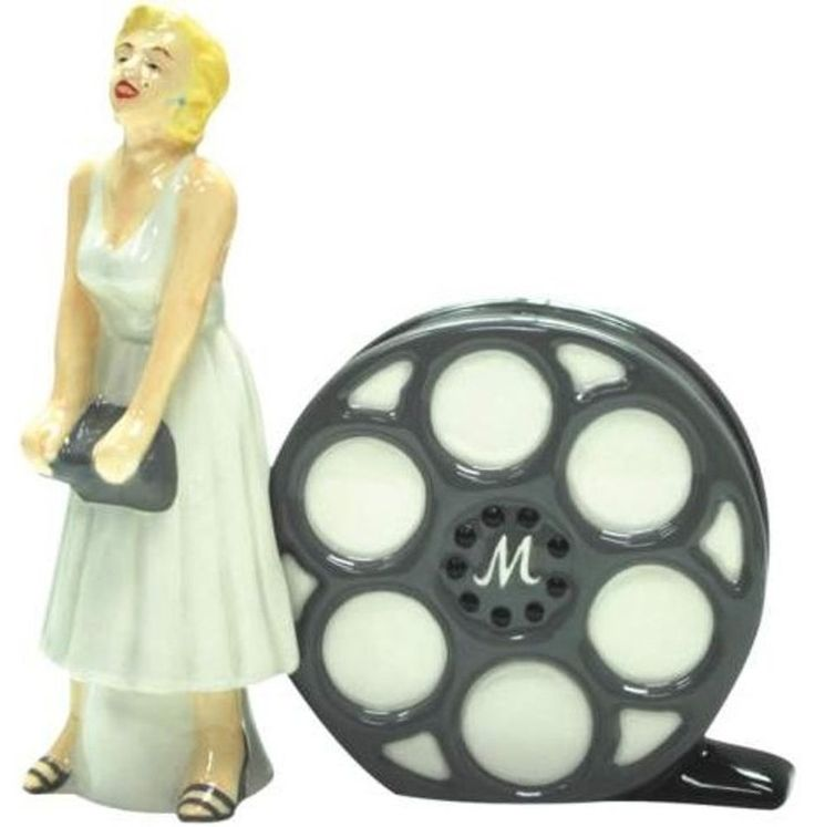 Marilyn Monroe & Film Salt Pepper Shaker Set Licensed 19911 New