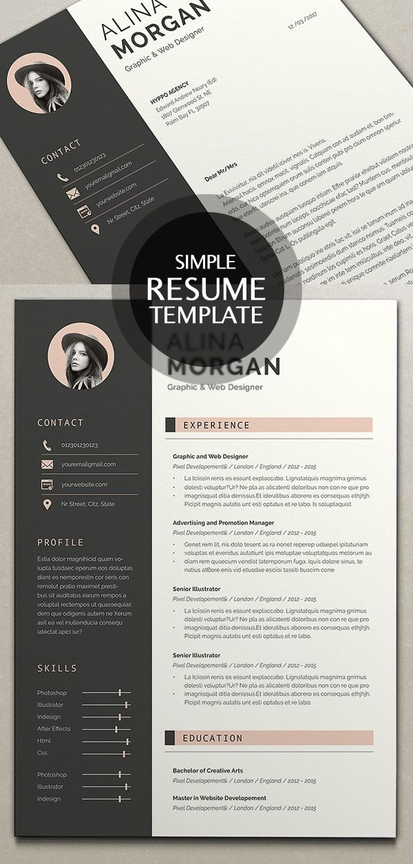 8 Best Resume\/CV Images On Pinterest Resume Cv, Cv Ideas And Cv  Simple Resume Exampleprin