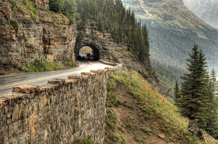 Mountain Pass along the Going to the Sun Road, Montana's Glacier National Park