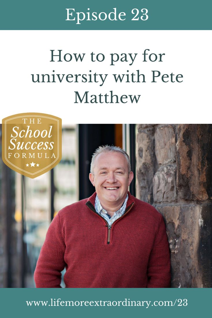 How to pay for university tuition fees and the financial aspects of education | Are university tuition fees really as scary as we've been led to believe? Find out in this interview with financial planner and podcaster, Pete Matthew. via @Lucy Parsons