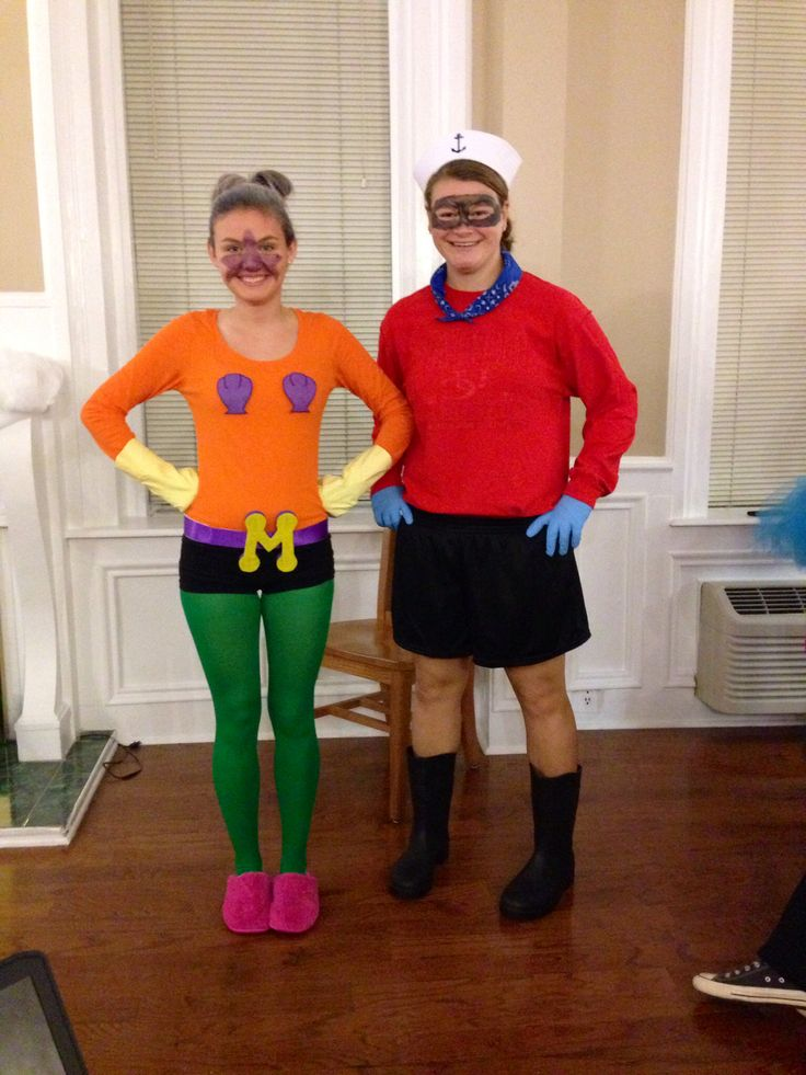 Mermaid Man and Barnacle Boy homemade costumes! #diy #spongebob #halloween #costume