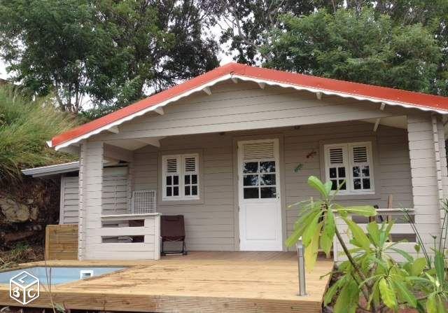 Bungalow cr ole avec piscine priv e pour 2 bungalow - Bungalow guadeloupe piscine privee ...
