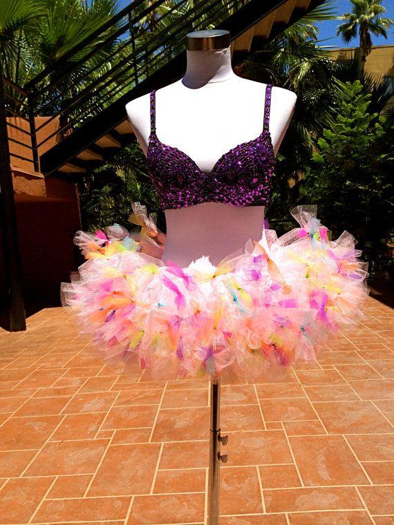 Colorful Tutu Color Run Tutu Birthday Tutu by ShellyRioBoutique