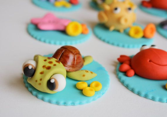 Fondant Under Water Cupcake Toppers