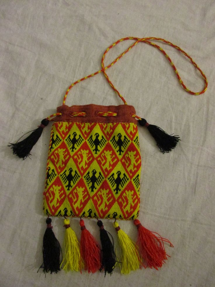 Medieval bag, brickstitch, inspirated bag from Germany 14.cent.