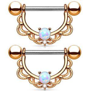 PAIR-Opal-Center-Filigree-Drop-Nipple-Shields-Rings-Body-Jewelry
