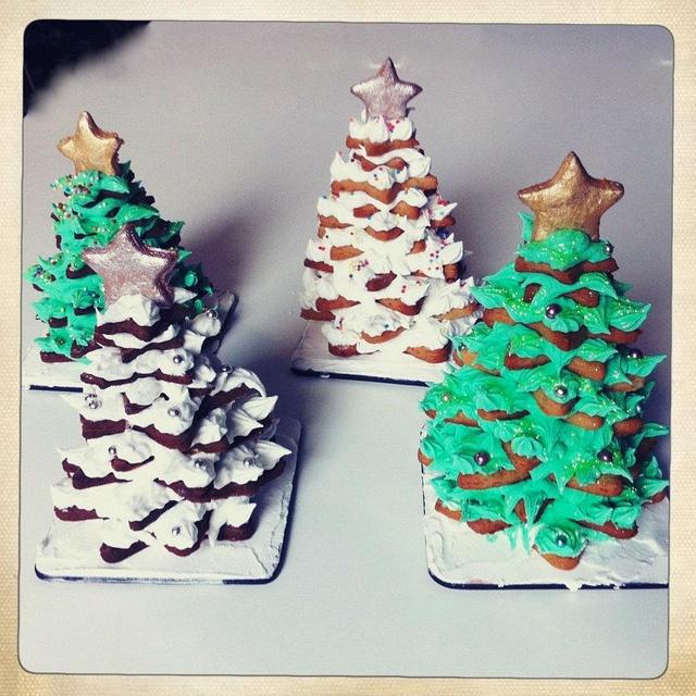 christmas cookies trees