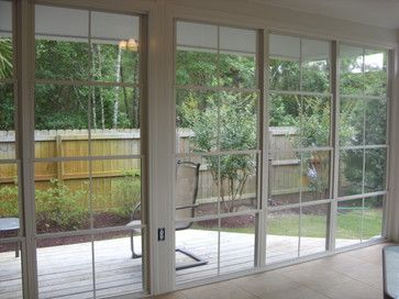 EzeBreeze Spaces - you can have best of a screened in porch and a sunroom in one traditional-porch