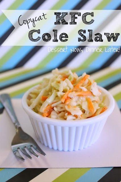Copycat KFC Cole Slaw - Dessert Now, Dinner Later!