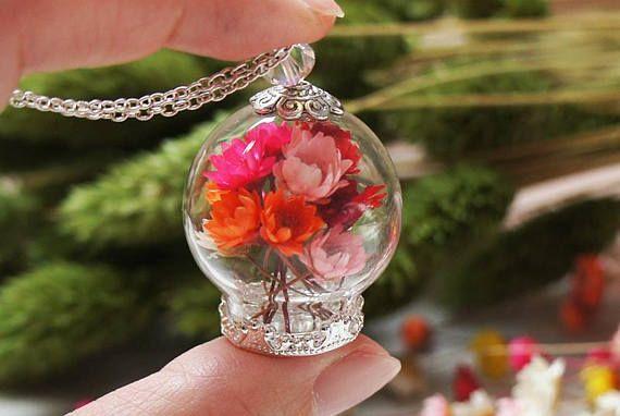 Bouquet necklace Real Flower necklace Garden necklace