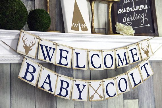 Welcome Baby Banner Baby shower Banner Baby Shower Baby