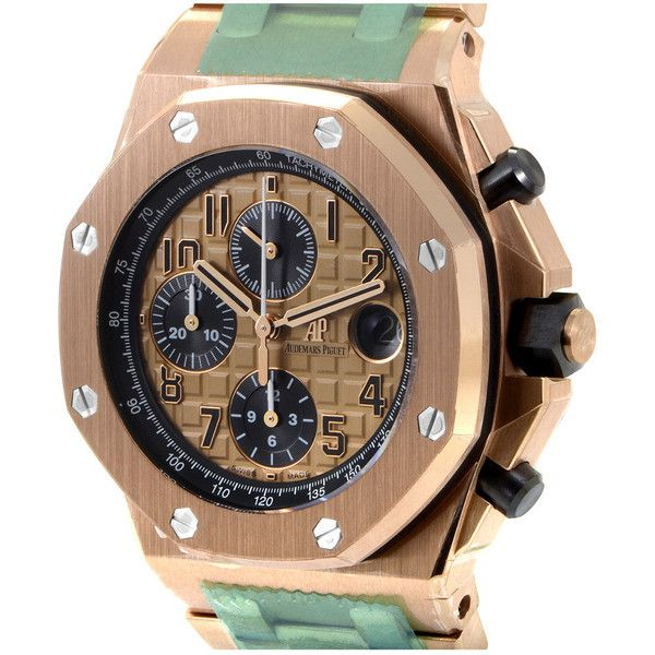 Audemars Piguet Men's 18K Rose Gold Watch ($58,000) ❤ liked on Polyvore featuring men's fashion, men's jewelry, men's watches, nocolor, watches, mens big face gold watches, mens watches jewelry and mens rose gold watches