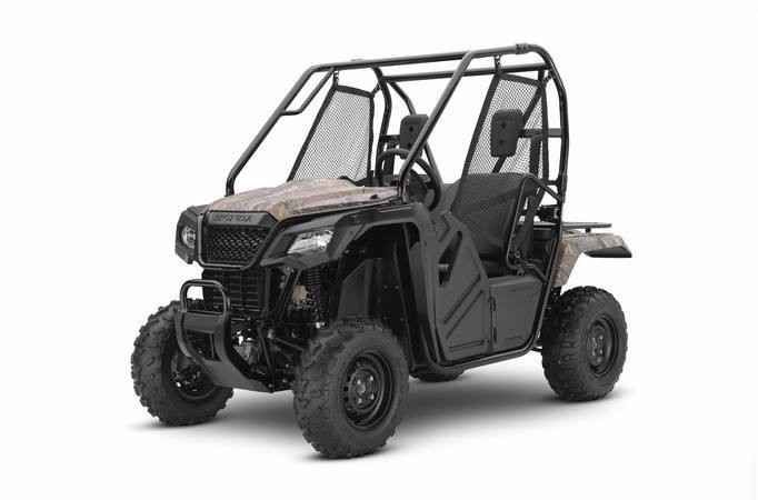 New 2017 Honda Pioneer 500 ATVs For Sale in Ohio. Choosing the right tool is the job half done. And it can make whatever you're trying to do a lot more fun. For thousands of side-by-side owners, the right tool for the job is a Honda Pioneer 500. It's big enough to seat two easily, but at just 50 inches wide, it can fit where bigger side-by-sides can't, letting you explore trails with width restrictions. That means it also fits into a full-sized pickup's bed easily. But the Pioneer 500 still…