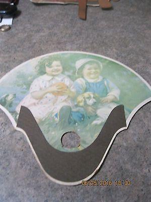 Antique-Cardboard-Denyes-Chevrolet-Company-Hand-Fan-very-Nice-London-Ohio