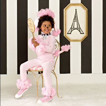 Pink Poodle Halloween Costume---step-by-step directions on how to make!
